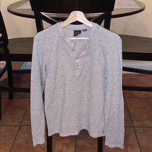 Armani Exchange Long Sleeve Thermal Henley Size M